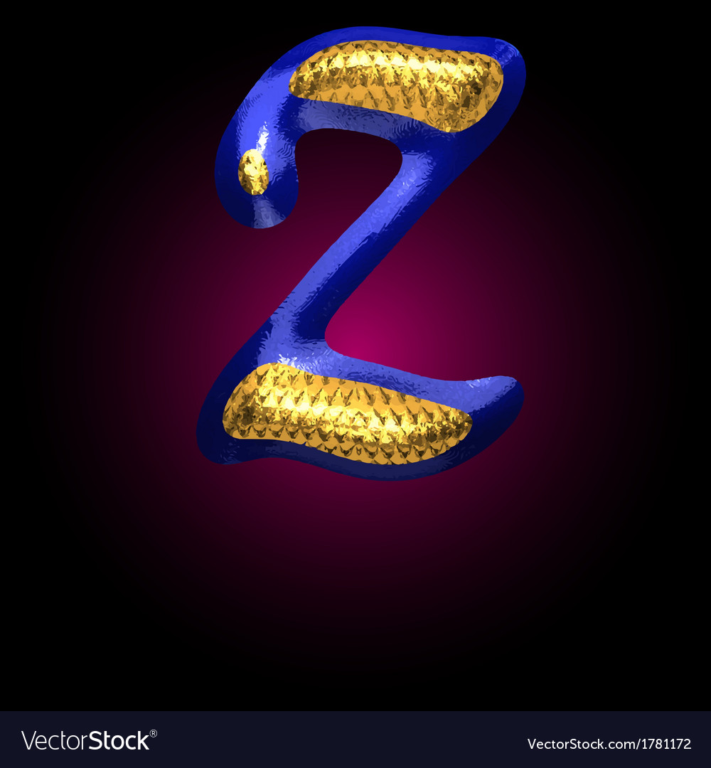 Golden and blue letter z vector | Price: 1 Credit (USD $1)