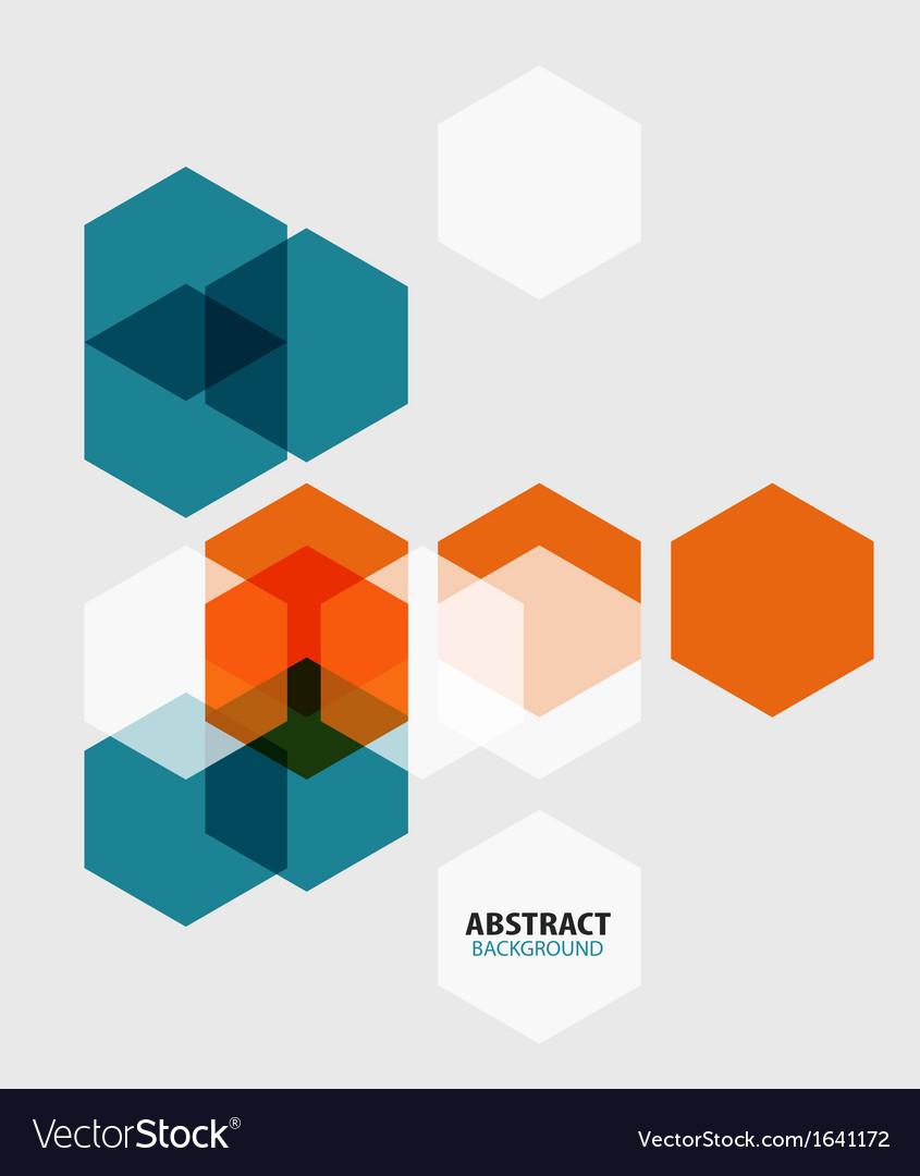 Modern art hexagon abstract background vector | Price: 1 Credit (USD $1)