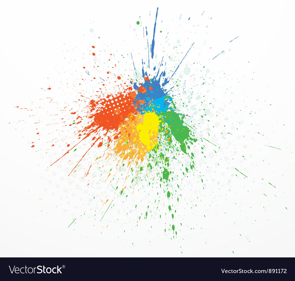 Paint splashing vector | Price: 1 Credit (USD $1)