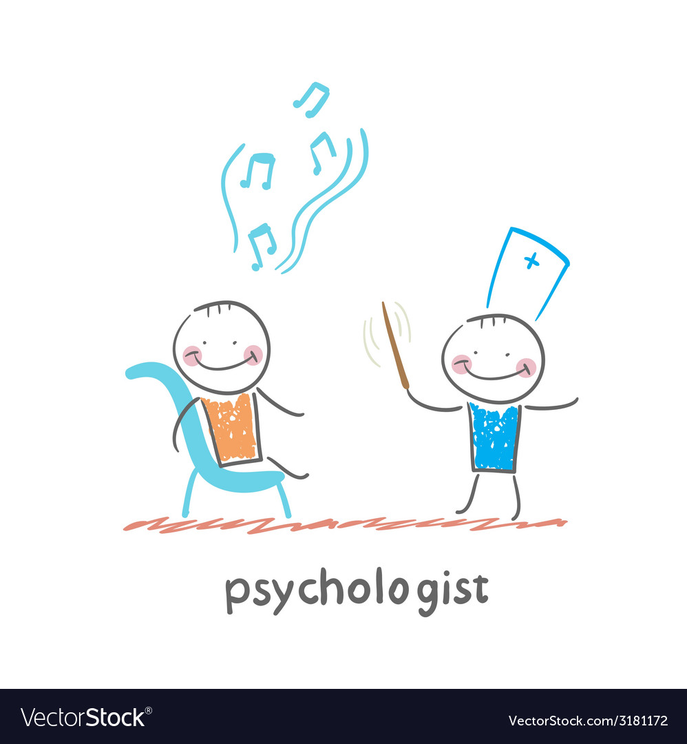 Psychologist conducts a patient tells notes vector | Price: 1 Credit (USD $1)