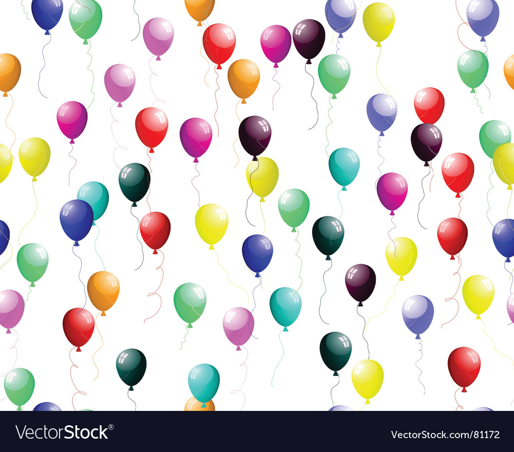 Seamless colourful balloons with glare vector | Price: 1 Credit (USD $1)