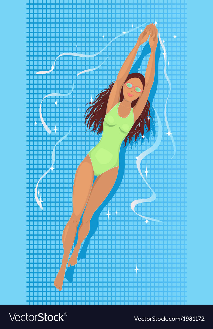 Swimming in a pool vector | Price: 1 Credit (USD $1)