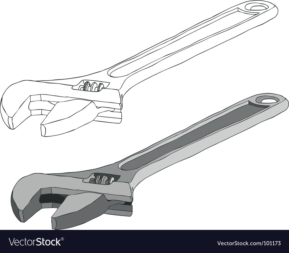 Adjustable spanner vector | Price: 1 Credit (USD $1)