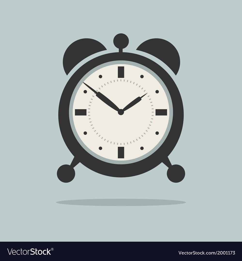 Alarm clock on retro blue background vector | Price: 1 Credit (USD $1)