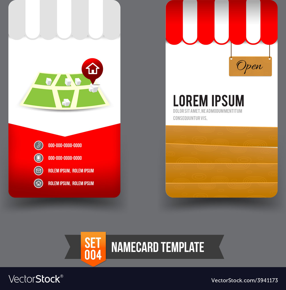 Business card template set 004 vector | Price: 3 Credit (USD $3)
