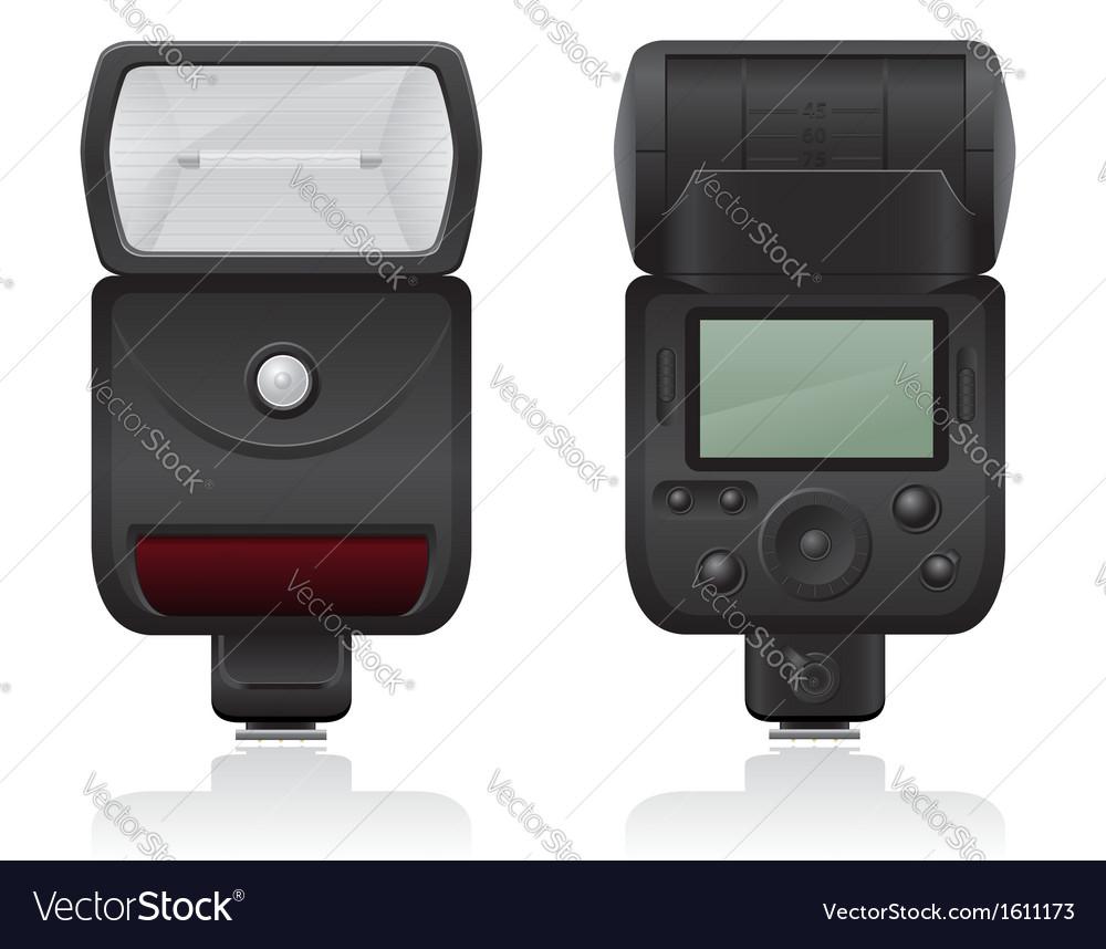 Flash photo camera 02 vector | Price: 1 Credit (USD $1)