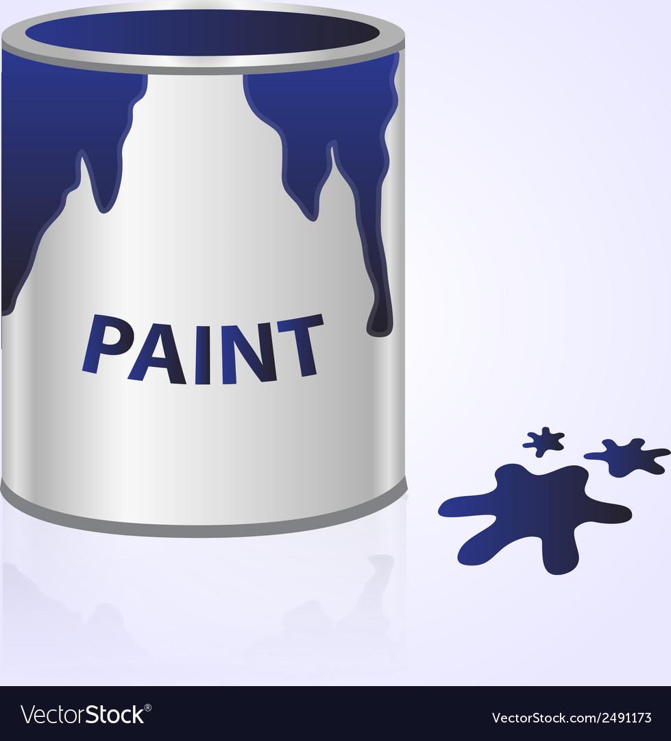 Paint can blue eps10 vector | Price: 1 Credit (USD $1)