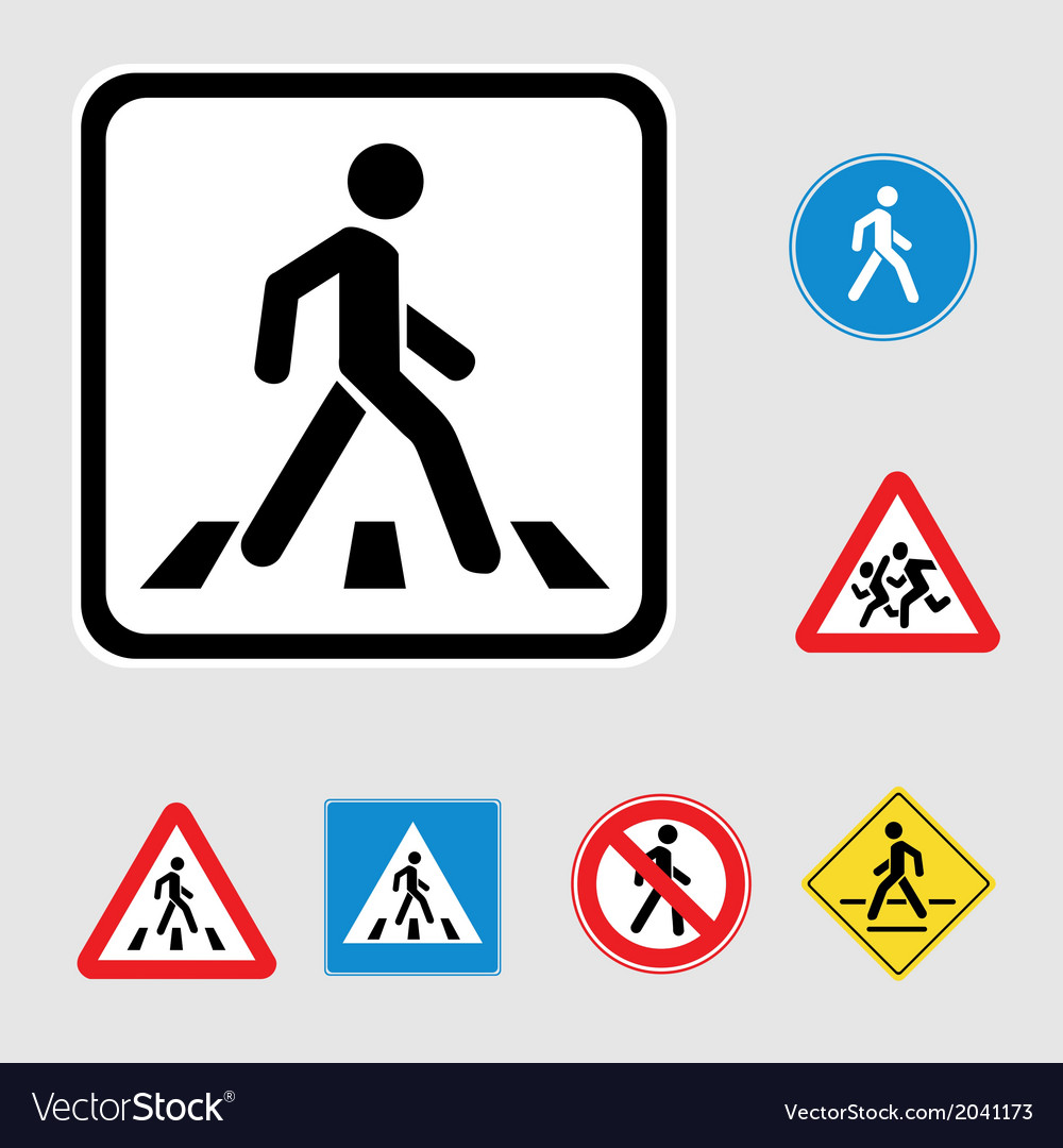 Pedestrian sign vector | Price: 1 Credit (USD $1)