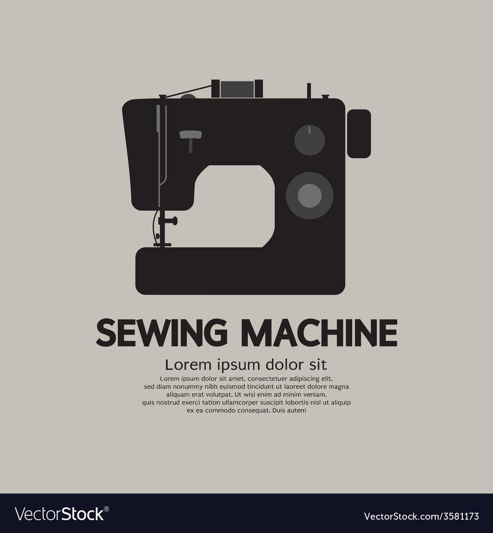 Single sewing machine black graphic vector | Price: 1 Credit (USD $1)