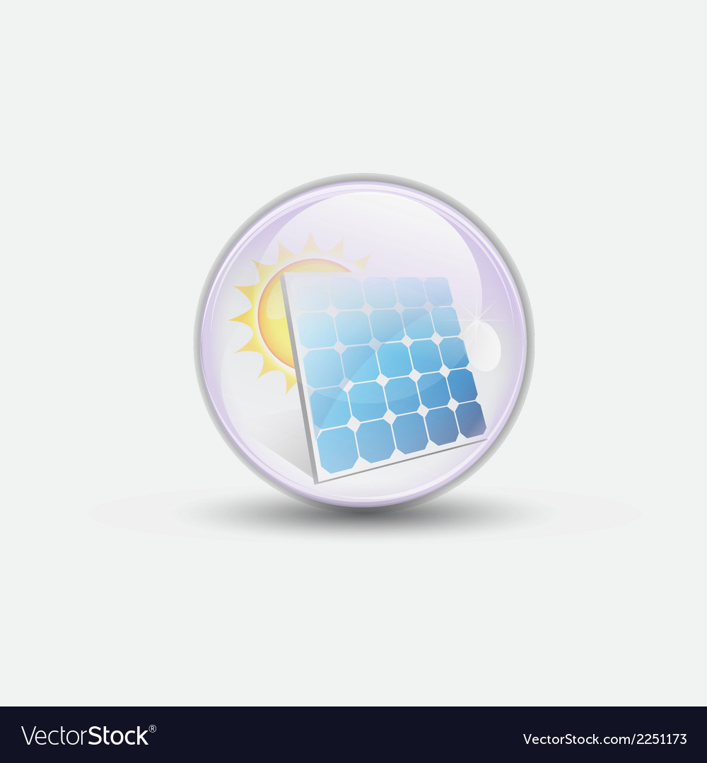 Solar cell bubble water clear vector | Price: 1 Credit (USD $1)