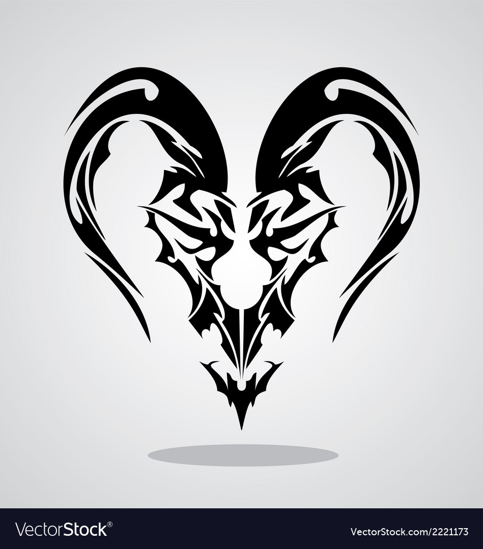 Tribal capricorn sign vector | Price: 1 Credit (USD $1)
