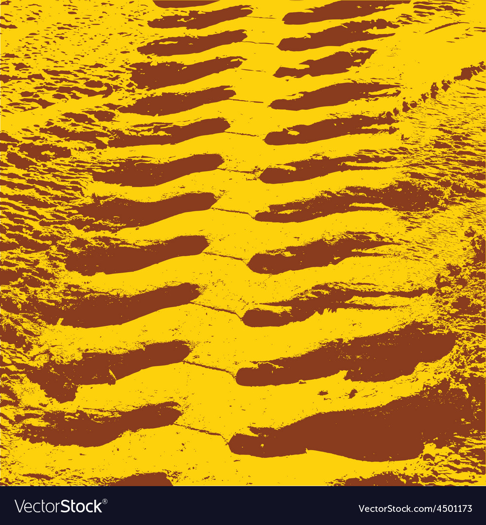 Yellow grunge background with black tire track vector   Price: 1 Credit (USD $1)