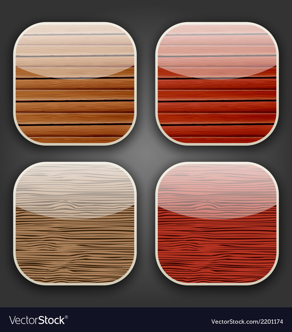 Backgrounds with wooden texture for the app icons vector | Price: 1 Credit (USD $1)