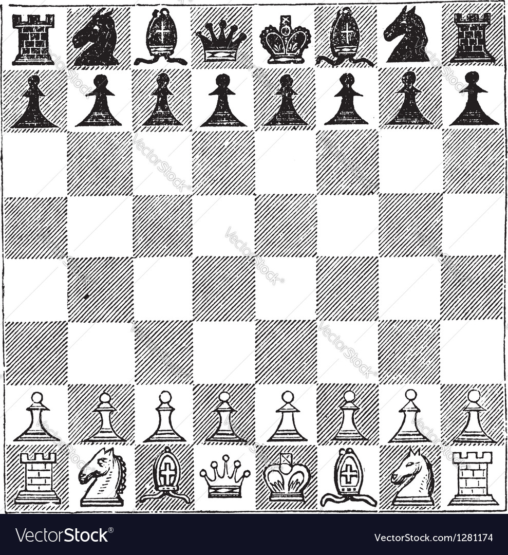 Chess vintage engraving vector   Price: 1 Credit (USD $1)