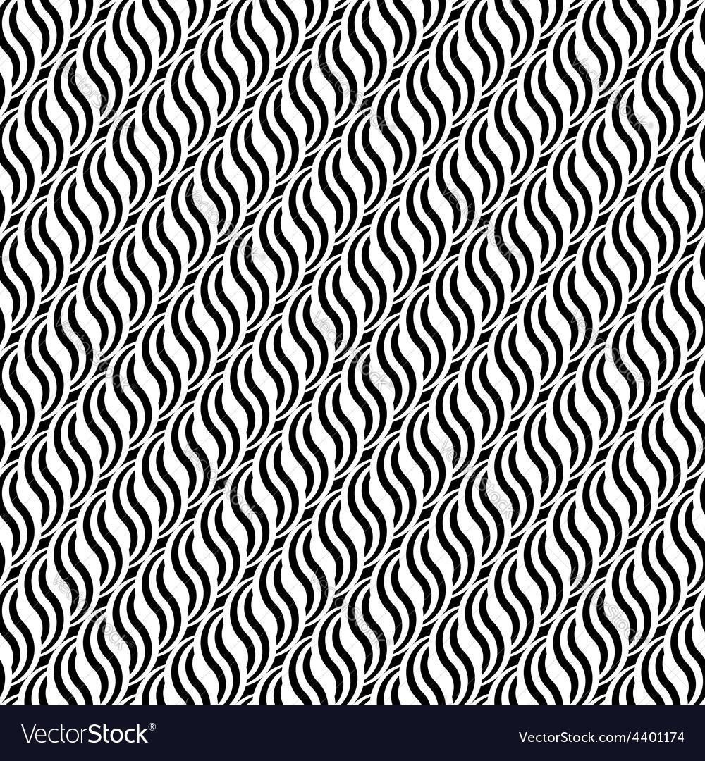 Design seamless monochrome waving pattern vector   Price: 1 Credit (USD $1)