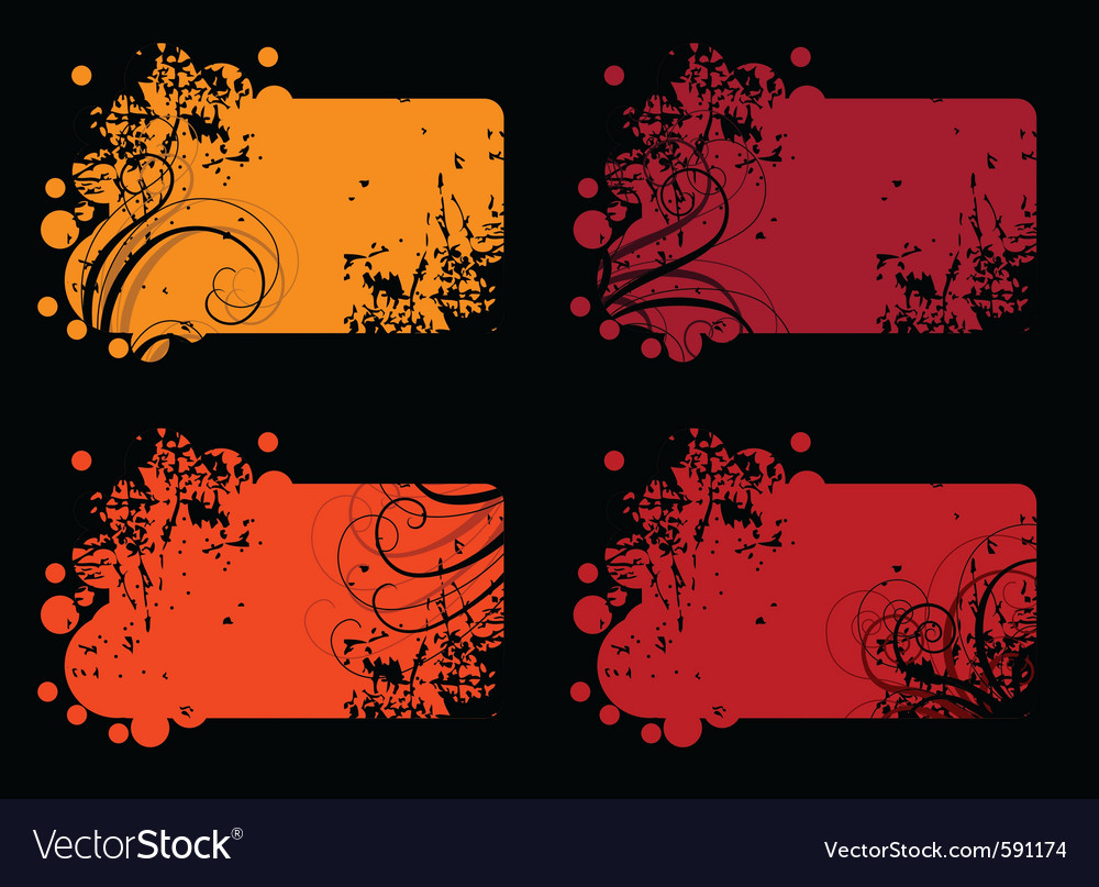 Four abstract banners vector | Price: 1 Credit (USD $1)