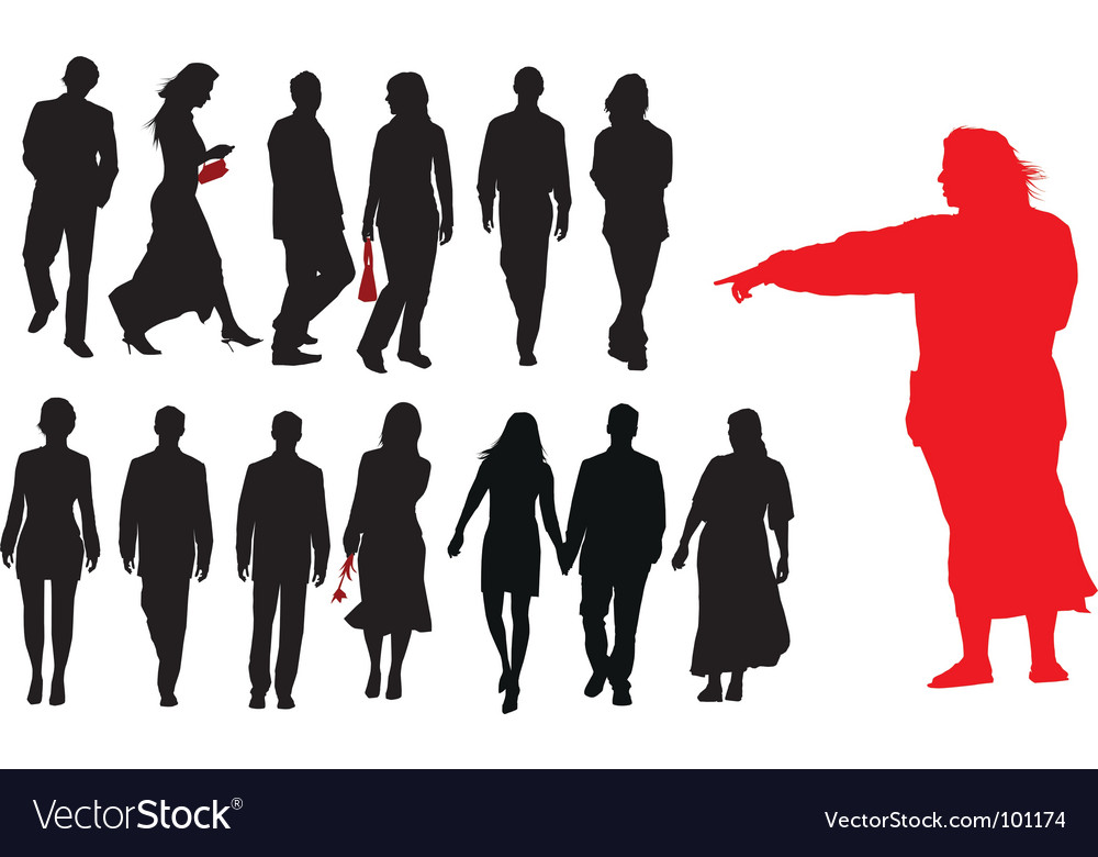 Group of young adults vector | Price: 1 Credit (USD $1)