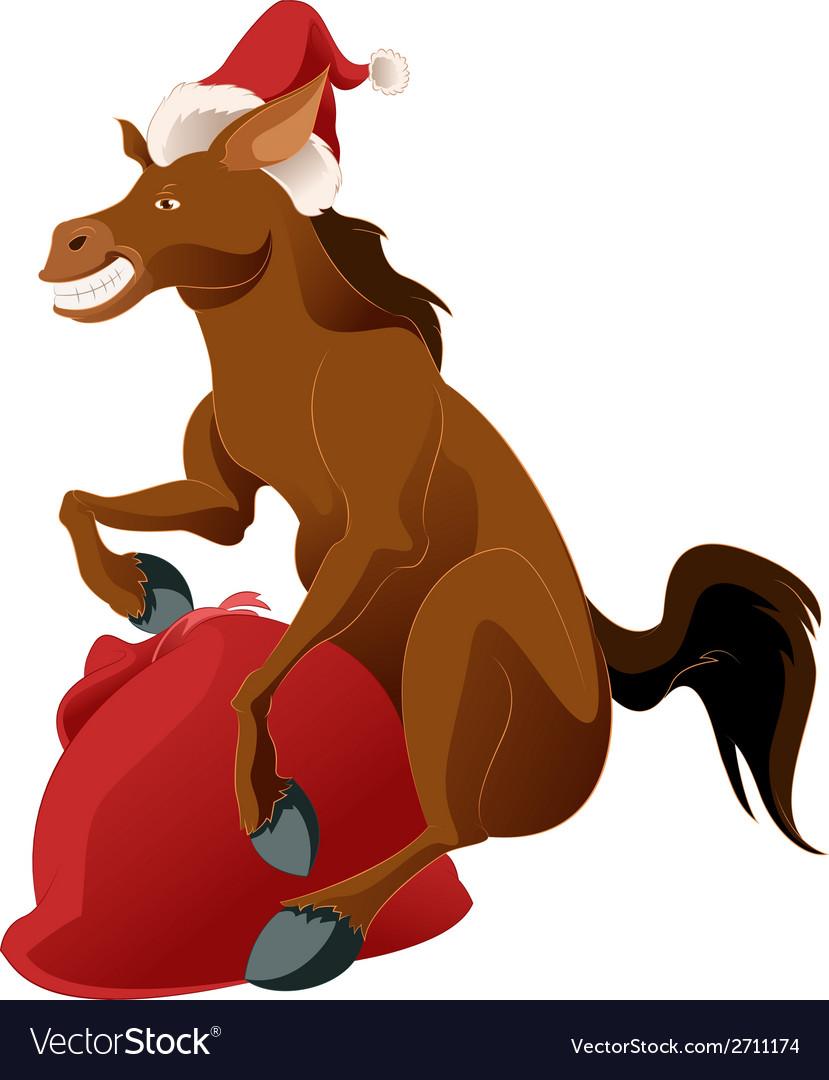 Happy new horse vector   Price: 1 Credit (USD $1)