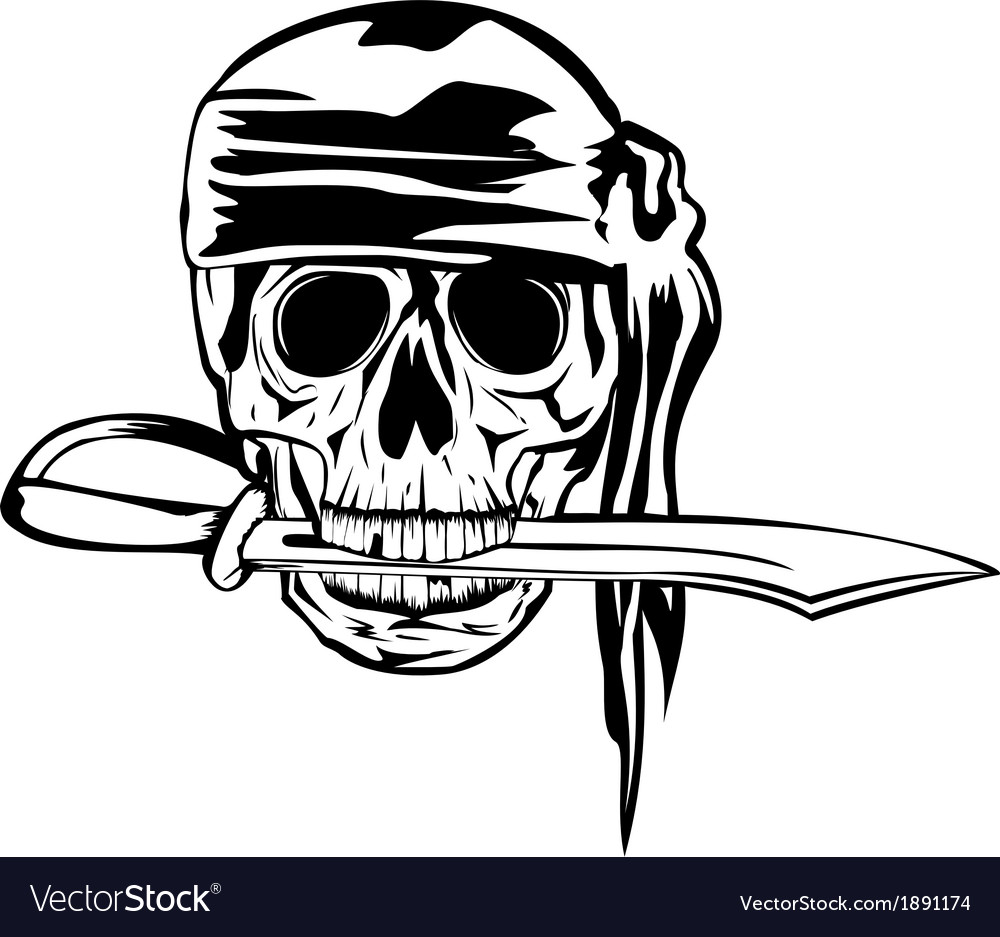Pirate and dagger1 vector | Price: 1 Credit (USD $1)