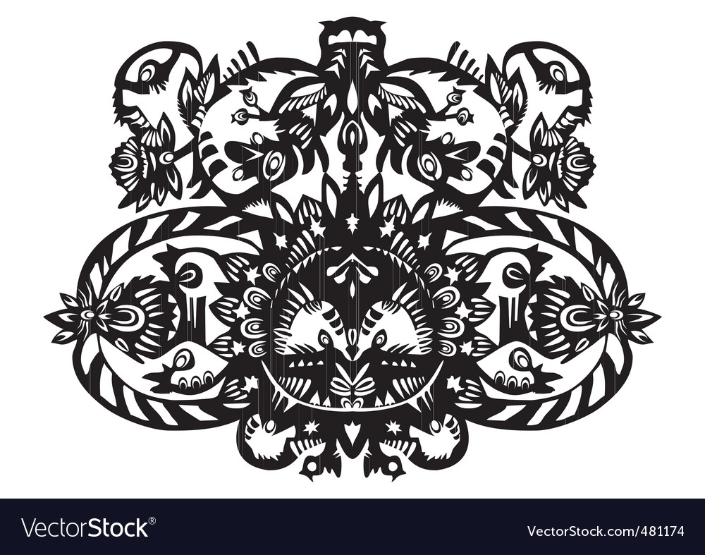 Plant decorative pattern vector | Price: 1 Credit (USD $1)
