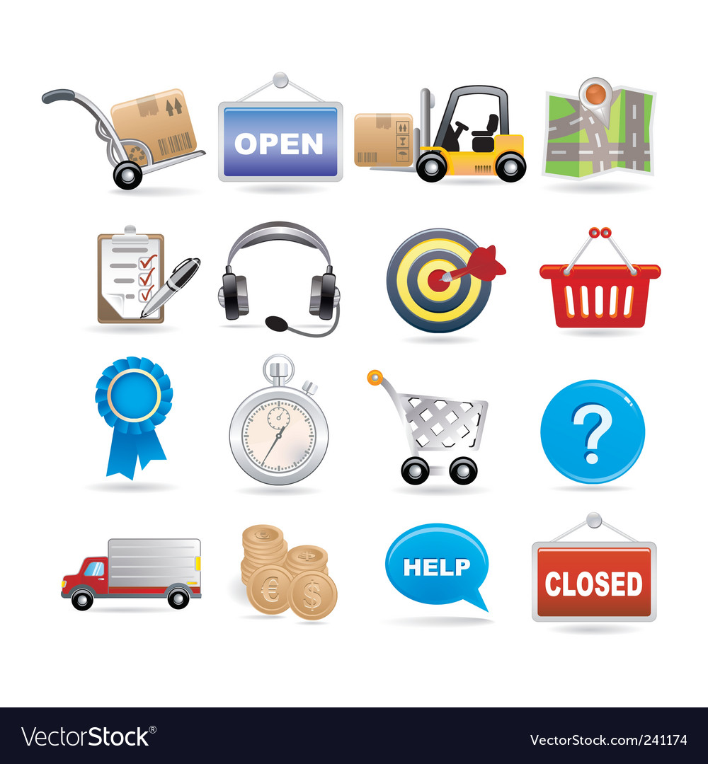 Shopping and logistic vector | Price: 3 Credit (USD $3)
