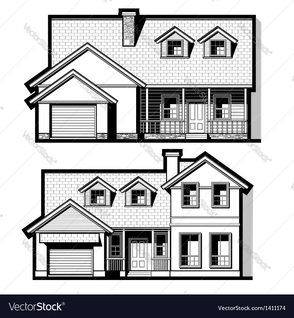 Single family house  set vector | Price: 1 Credit (USD $1)