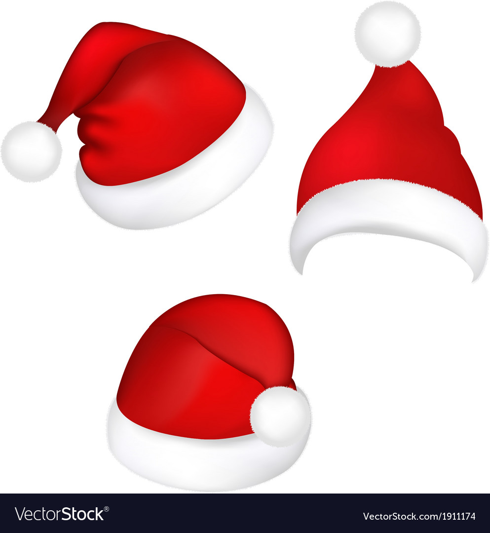Three santa hats vector | Price: 1 Credit (USD $1)