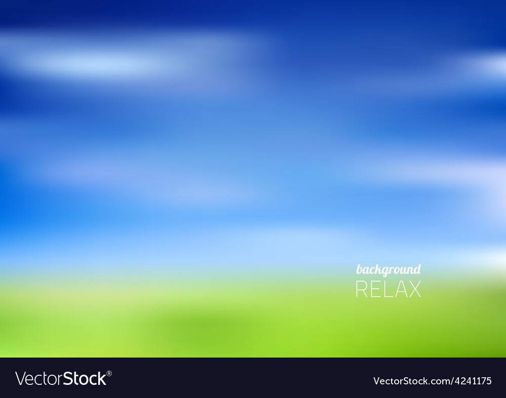 Blurry green field and blue sky vector | Price: 1 Credit (USD $1)