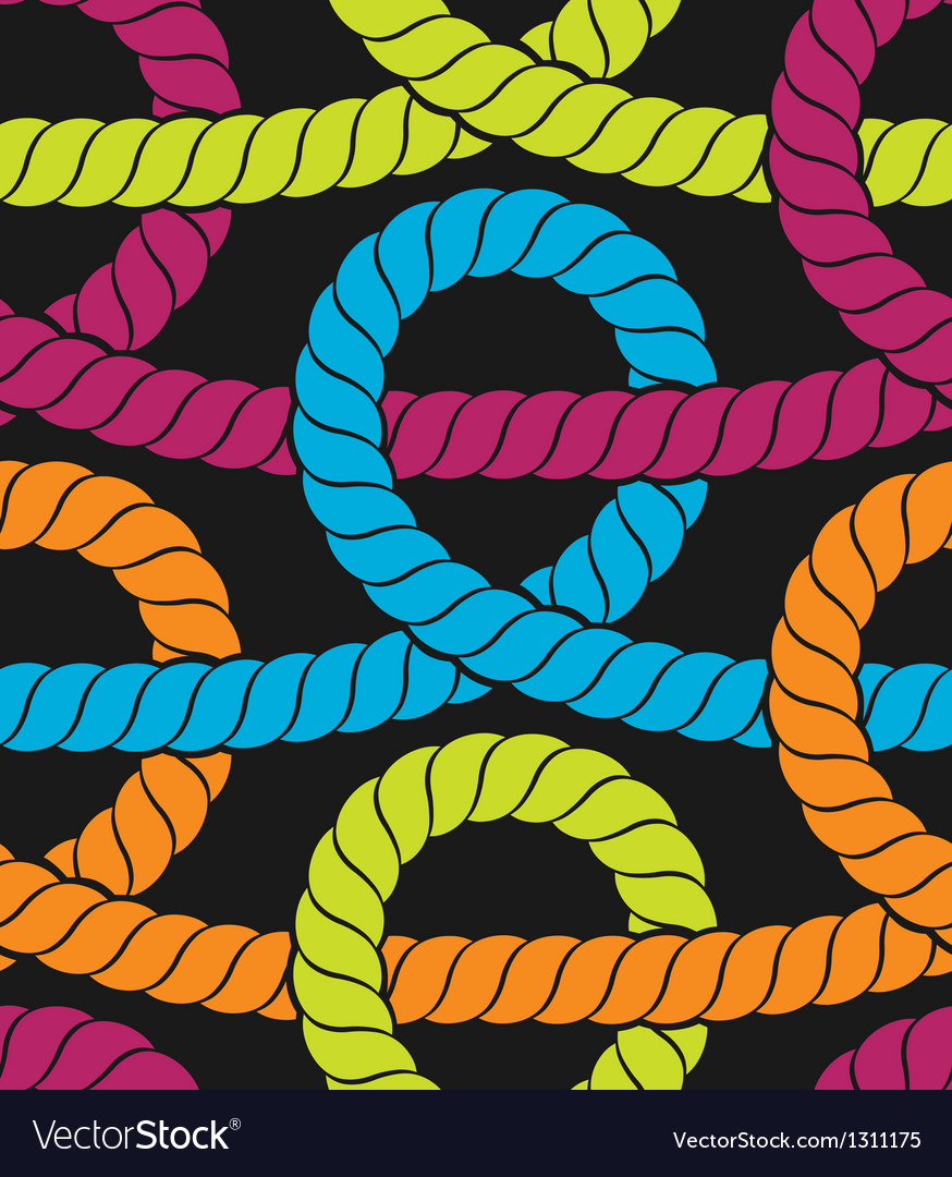 Colorful ropes seamless pattern vector | Price: 1 Credit (USD $1)