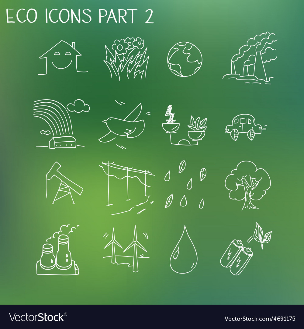 Ecology organic signs eco and bio elements in hand vector | Price: 1 Credit (USD $1)