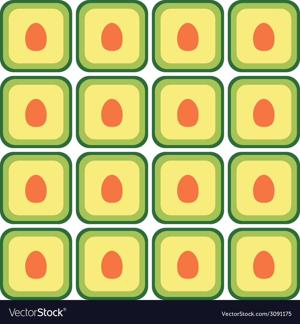 Seamless avocado pattern vector | Price: 1 Credit (USD $1)