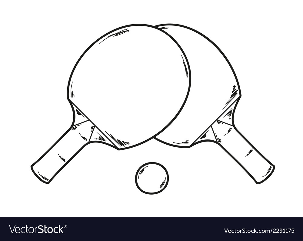 Two ping pong rackets vector | Price: 1 Credit (USD $1)