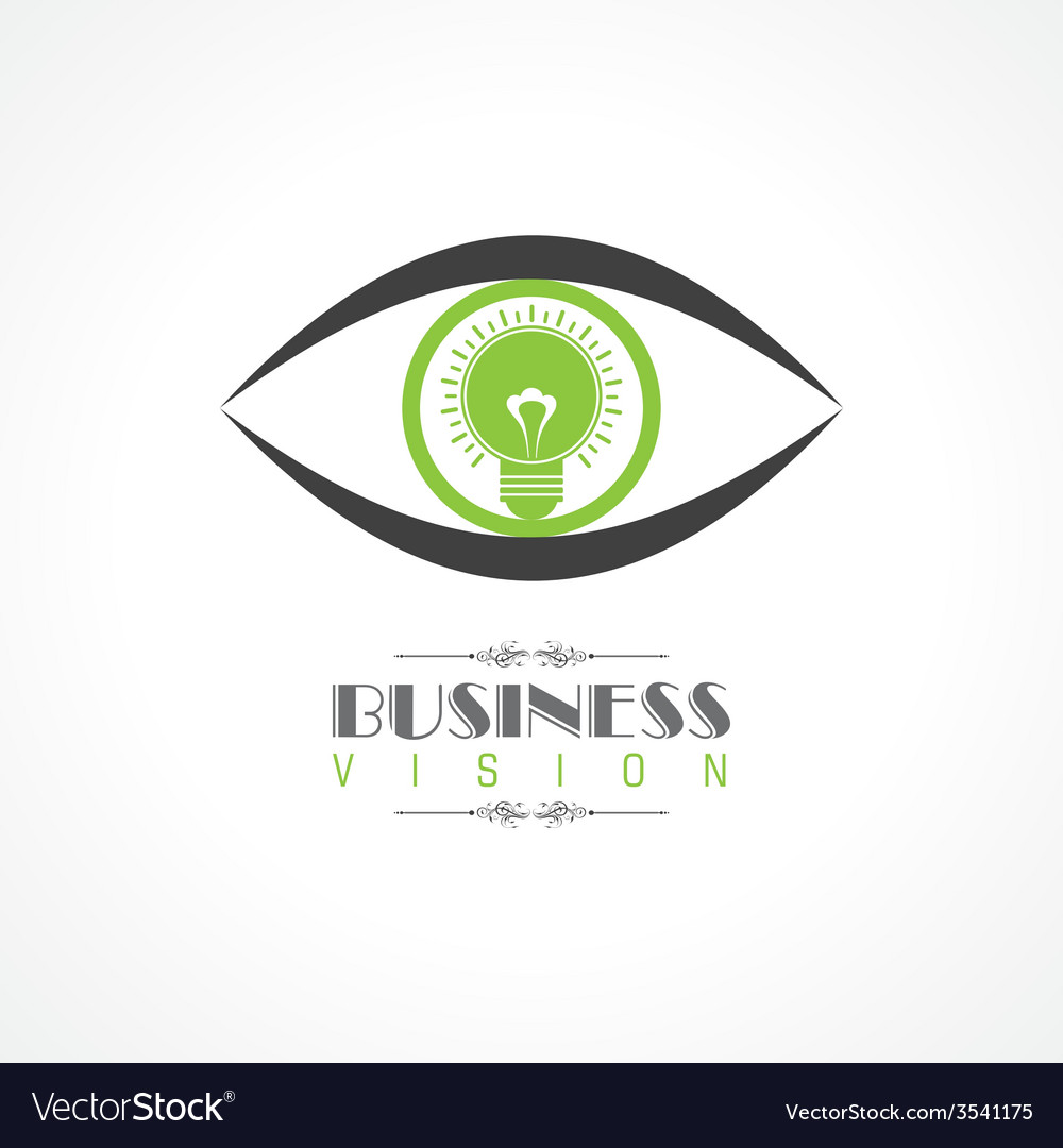 Vision and idea concept- eye with lightbulb symbol vector | Price: 1 Credit (USD $1)