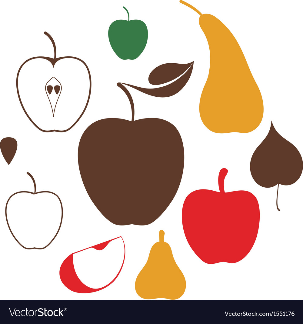 Apple pear vector | Price: 1 Credit (USD $1)