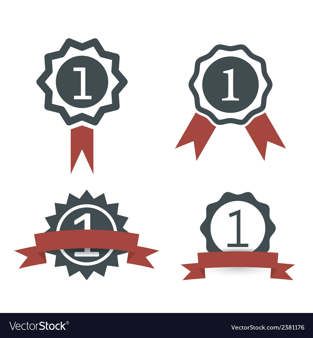 Award medal icons vector | Price: 1 Credit (USD $1)