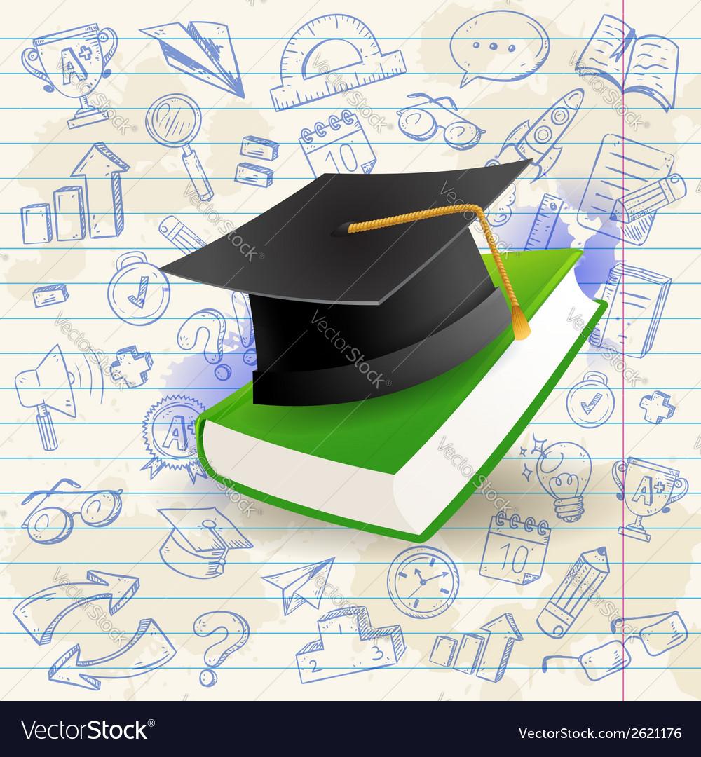 Back to school celebration card vector | Price: 1 Credit (USD $1)