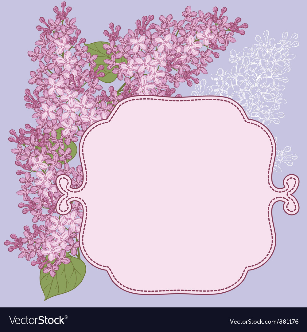 Background for design with flowers of lilac vector | Price: 1 Credit (USD $1)