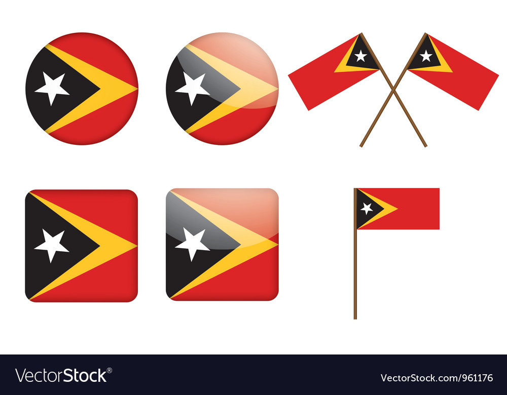 Badges with flag of east timor vector | Price: 1 Credit (USD $1)
