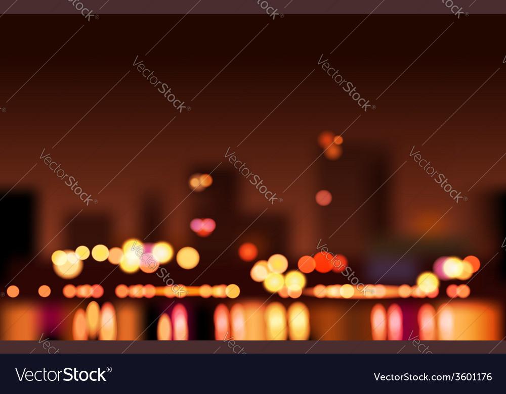 Big city lights vector | Price: 1 Credit (USD $1)