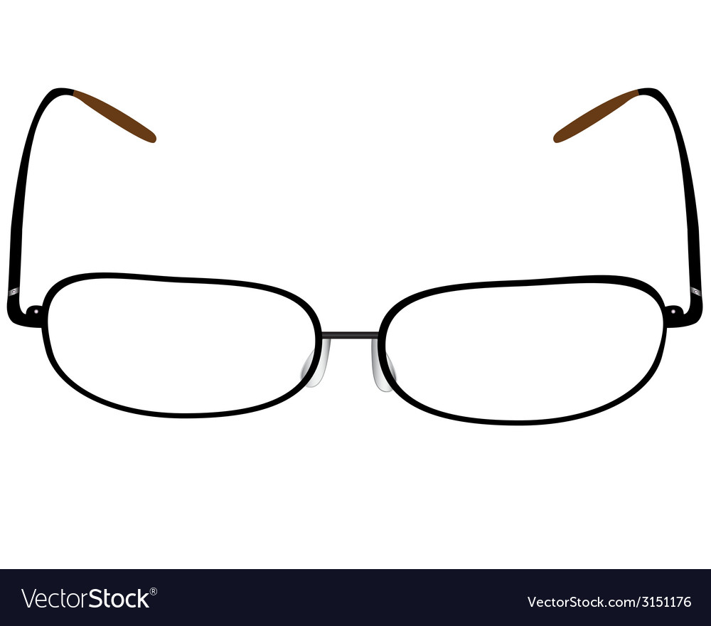 Black glasses vector | Price: 1 Credit (USD $1)