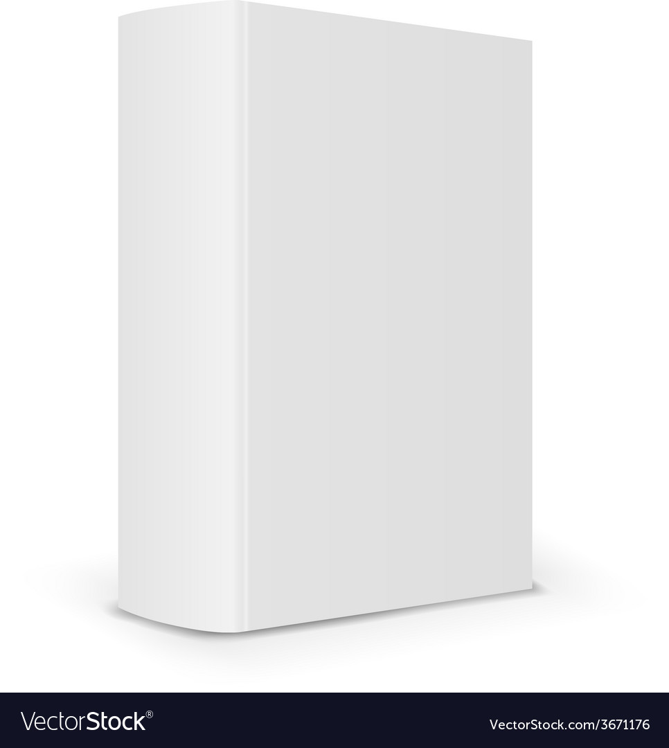 Blank book spine vector | Price: 1 Credit (USD $1)