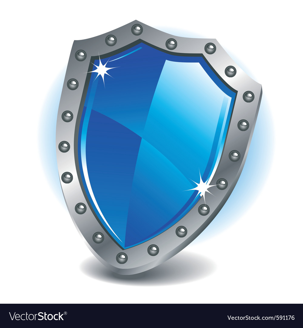 Blue shield vector | Price: 3 Credit (USD $3)