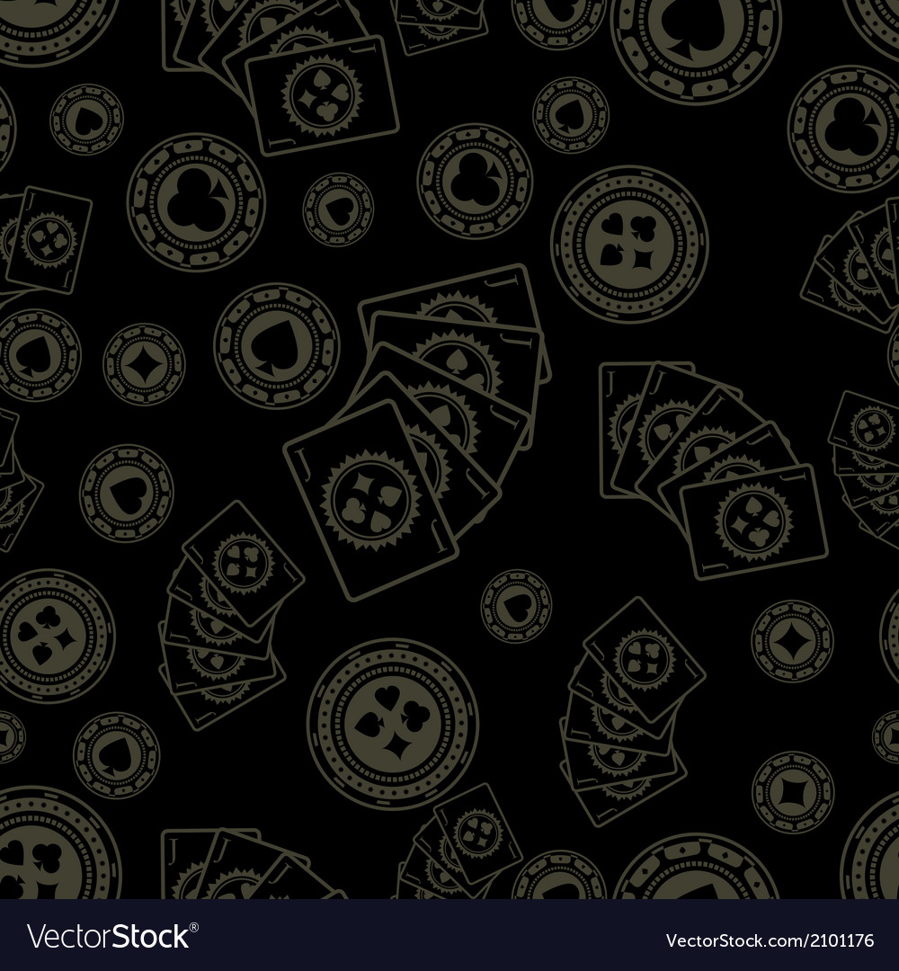 Dark poker pattern vector