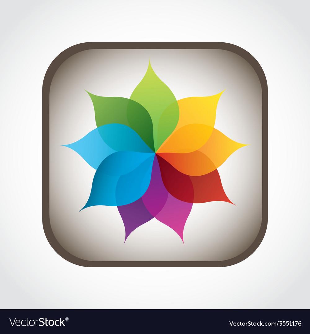 Flower icon vector   Price: 1 Credit (USD $1)