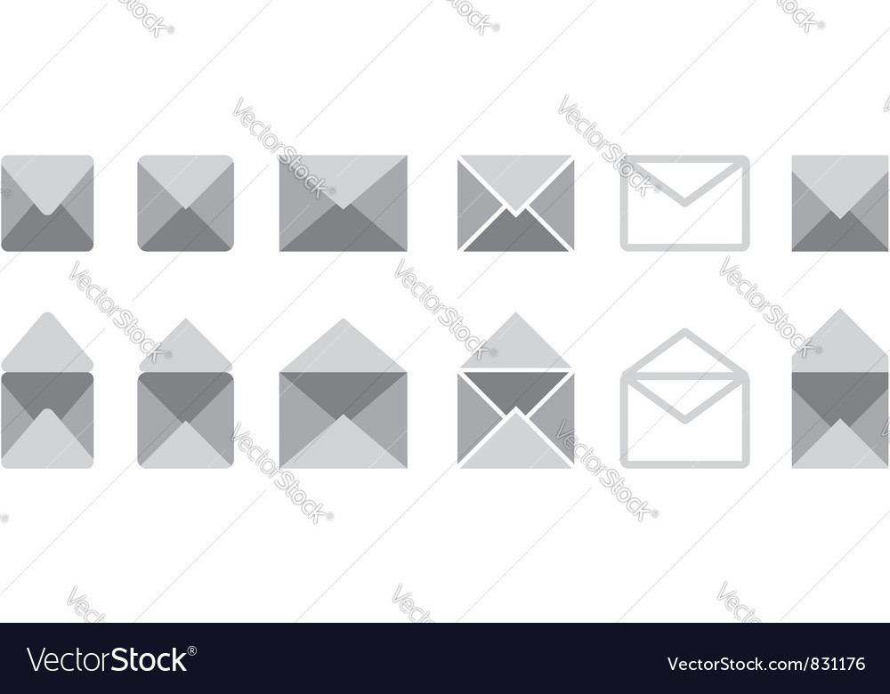 Mail set vector