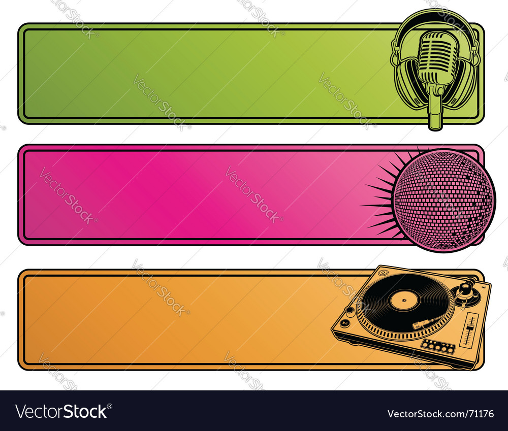 Party banners vector | Price: 1 Credit (USD $1)