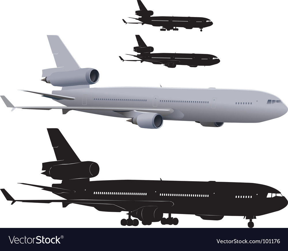 Passenger airliner vector | Price: 1 Credit (USD $1)