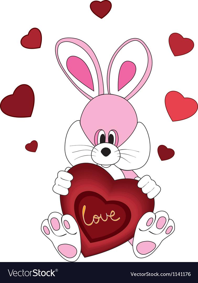 Romantic rabbit vector