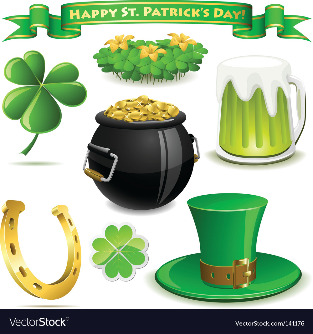 Saint patrick's day symbols vector | Price: 3 Credit (USD $3)
