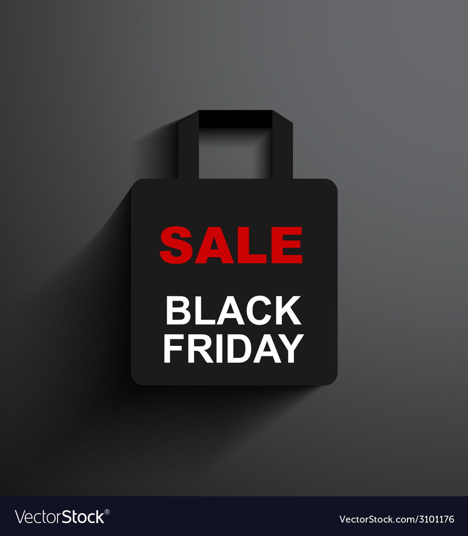 Sale shopping bag black friday vector | Price: 1 Credit (USD $1)